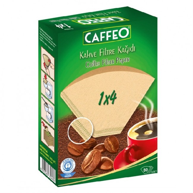 Caffeo 1x4 Filter Papers 80pcs
