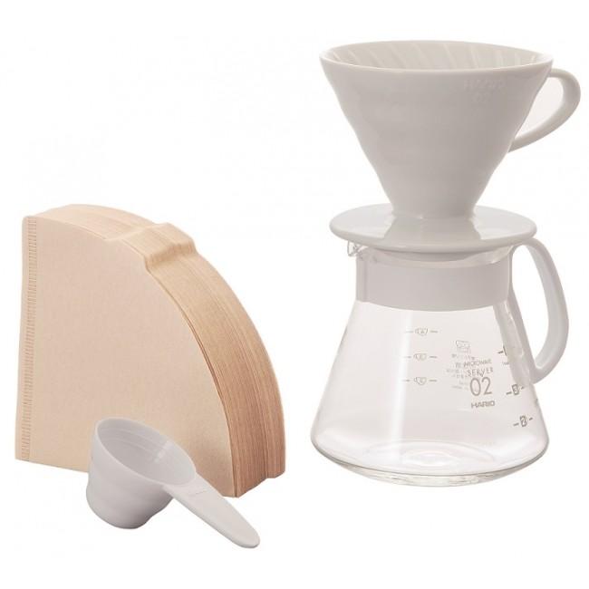 Hario V60 02 Pour Over Kit Ceramic