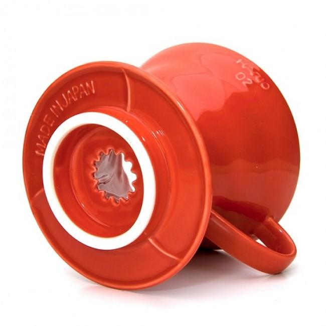 Hario V60 02 Dripper - Red Ceramic