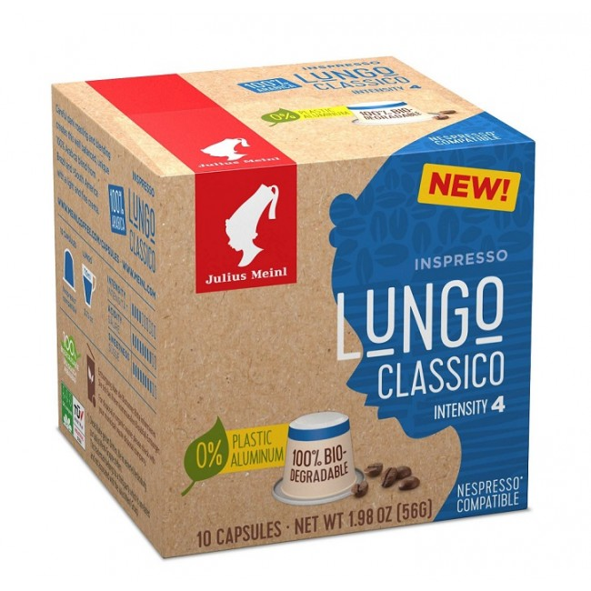 Julius Meinl Lungo Classico Nespresso Compatible Coffee Capsules 10pcs